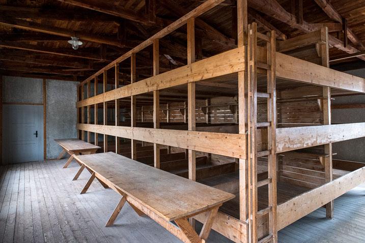 Ricostruzione di una baracca dei prigionieri di Dachau