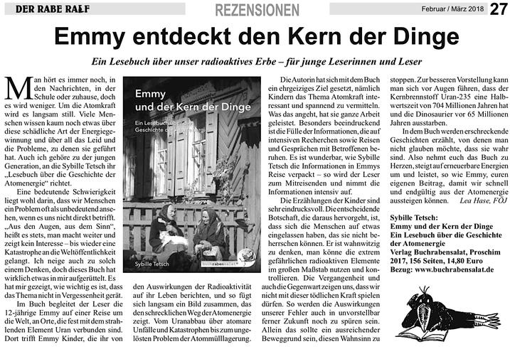 """Grüne Liga Berlin, """"Der Rabe Ralf"""", Ausgabe 2/2018"""