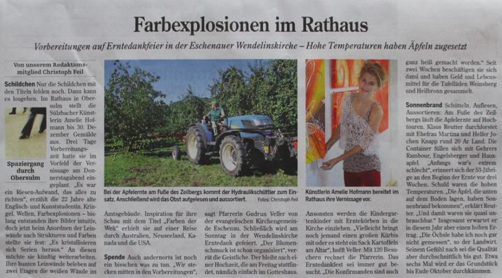 Heilbronner Stimme, 1. Oktober 2016