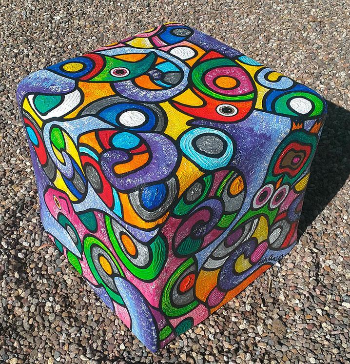 Edda Clasen, ferrocement and acrylic colours