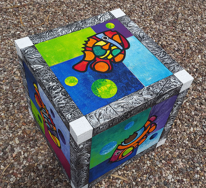 Edda Clasen, wood and acrylic colours
