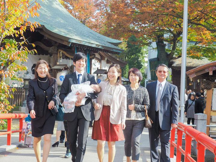 出張撮影 東京 お宮参り 家族撮影
