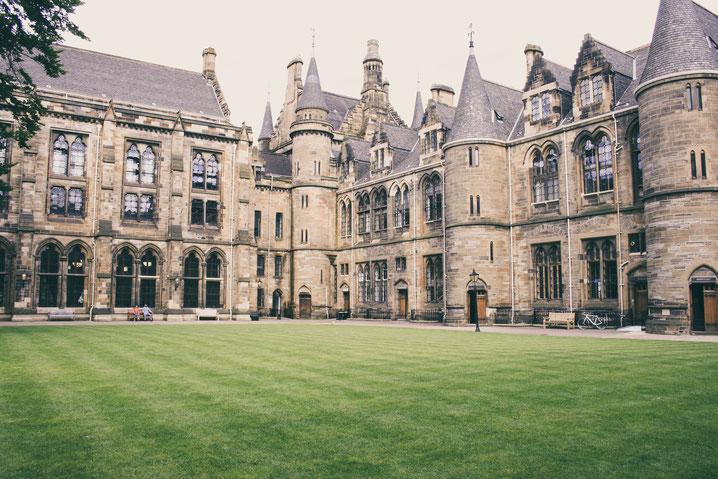 Glasgow Scotland UK ofpenguinsandelephants of penguins and elephants Glasgow University Harry Potter