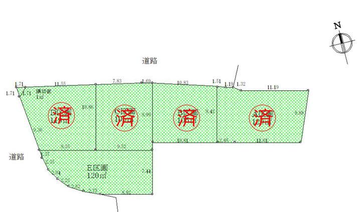 土地 狛江市中和泉1丁目 115.02㎡(約34坪) 区画図