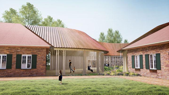 Ansicht des geplanten Flüchtlingsmuseums FLUGT. Foto: Bjarke Ingels Group/PR