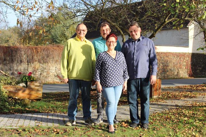 Kloschwitzer Ortschaftsrat 2019: Jörg Tempel, Uwe Roth, Sandra Rödel, Jens Hofmann