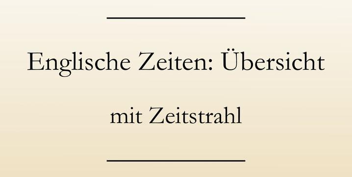 Englische Zeiten lernen: Eine Übersicht mit Zeitstrahl und Beispielen. #englischlernen