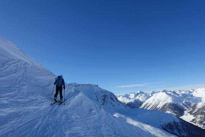 Skitouren, Schweiz, Engadin, Zuoz, Piz Arpiglia, Plaun d'Arpschellas