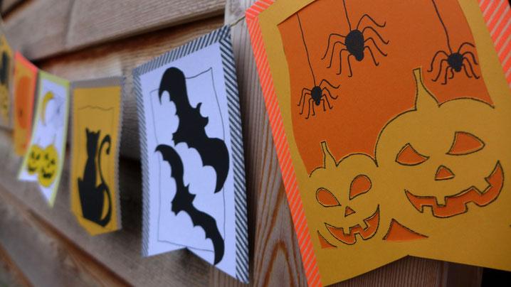 Halloween - Dekoration aus Papier - DIY-Projekt