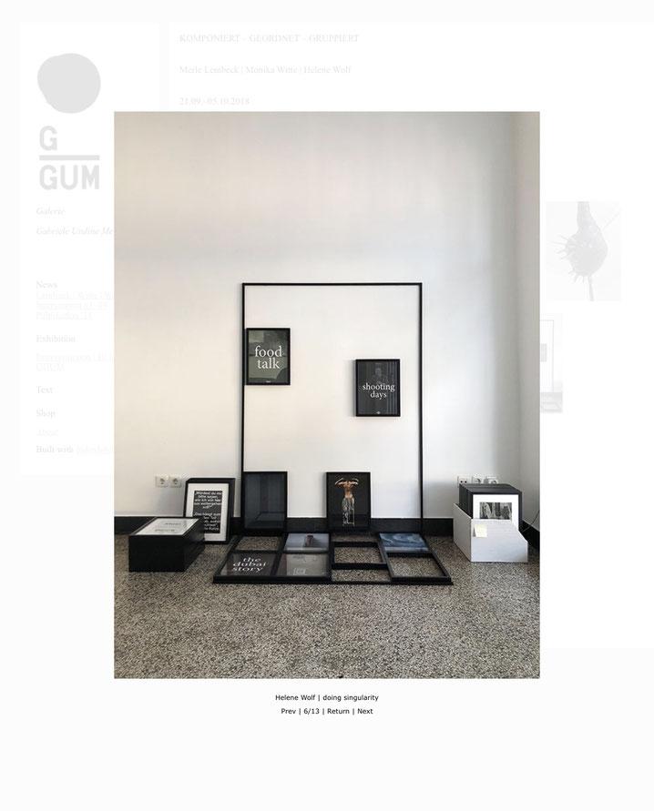 KOMPONIERT-GEORDNET-GRUPPIERT 2018, Galerie GUM Bielefeld
