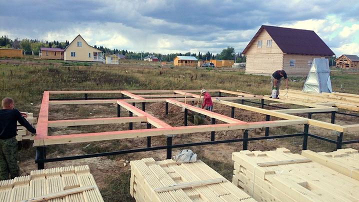 строительство фундамента ле шале