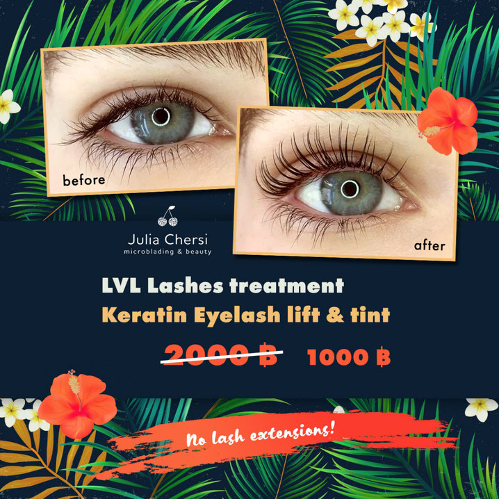 Get longer looking lashes without the needs for lash extensions. Keratin Lash Lift in Hua Hin