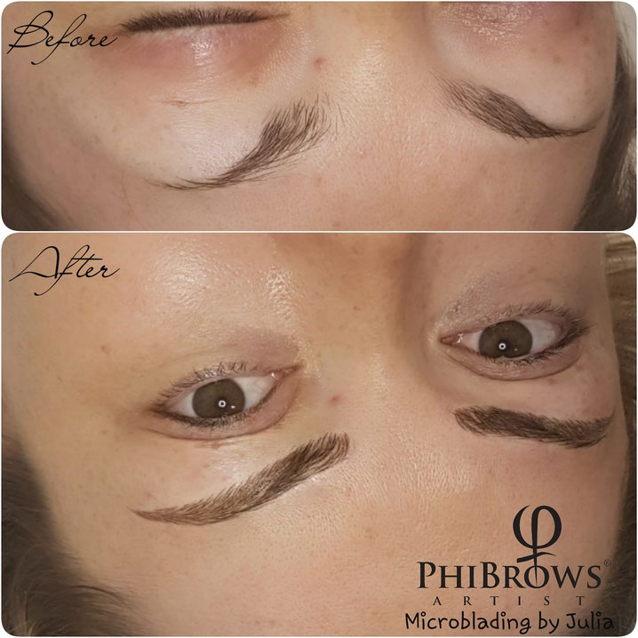 Beautiful Eyebrows created by Julia. Permanent Makeup in Hua Hin