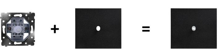 interrupteur; VECTIS; design; epure, ART, arnould, blanc, noir, aluminium, moderne, contemporain