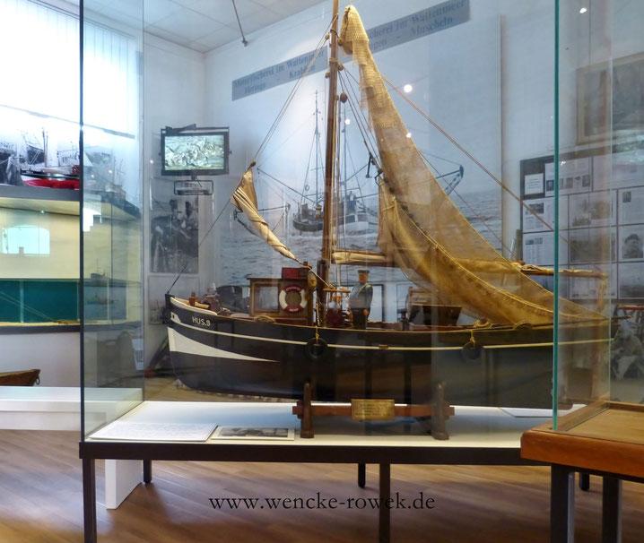 """Modellschiff """"Edelweiß"""": einer der ersten Kutter von Husum (Eigner Claus Lass)"""
