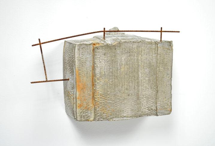"Box No. 2, Concrete & remesh, 9""x 14""x 4"", 2016, Sold"