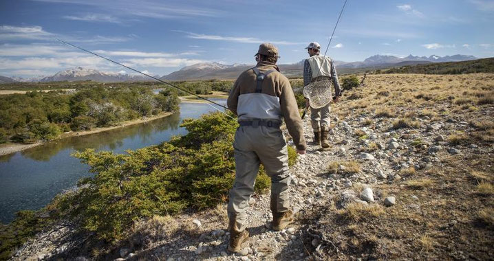 Fly fish Central Patagonia, Argentina, FFTC.club destination, El Encuentro Fly Fishing, Fly fish freshwater destinations. Wild and Trophy Trout, Brook trout, Rio Corcovado view