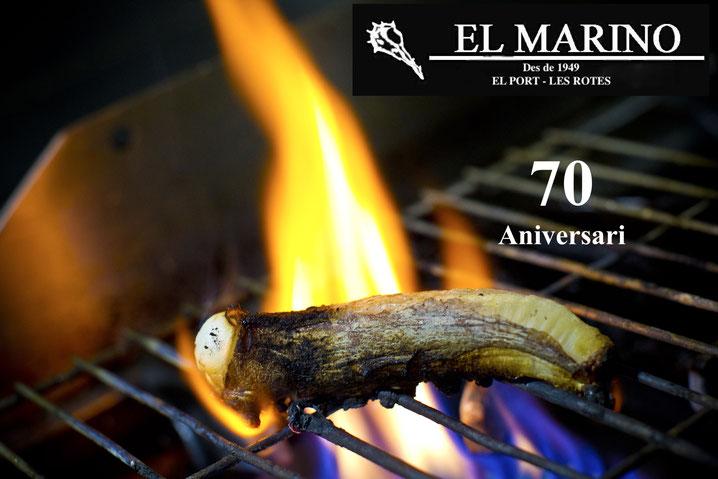 El pulpo a la llama, uno de los emblemas gastronómicos del Marino Dénia en su setenta aniversario
