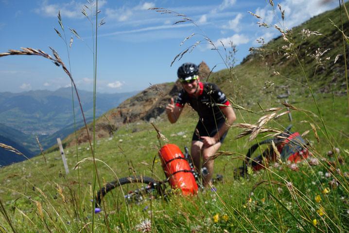 Bikepacking, MTB, Selfie, Sommer, Österreich