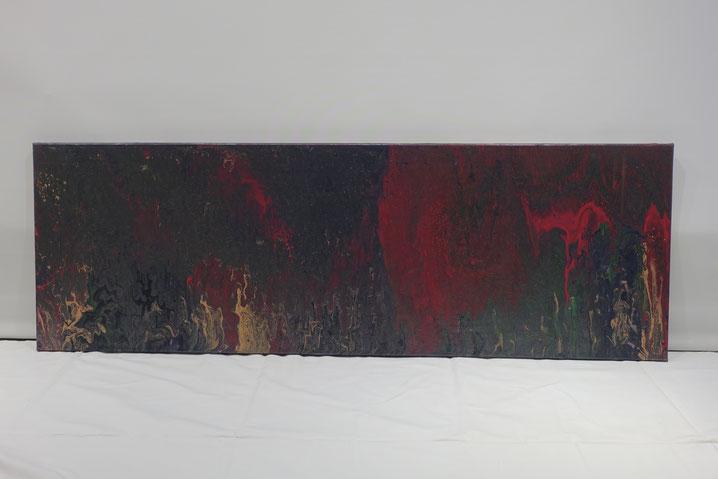 Acryl pouring, abstact schilderij,  grot, lang schilderij