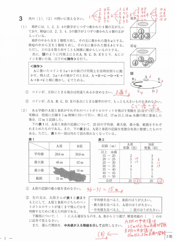 さくらゼミ,福島県立高校入試問題数学,福島市