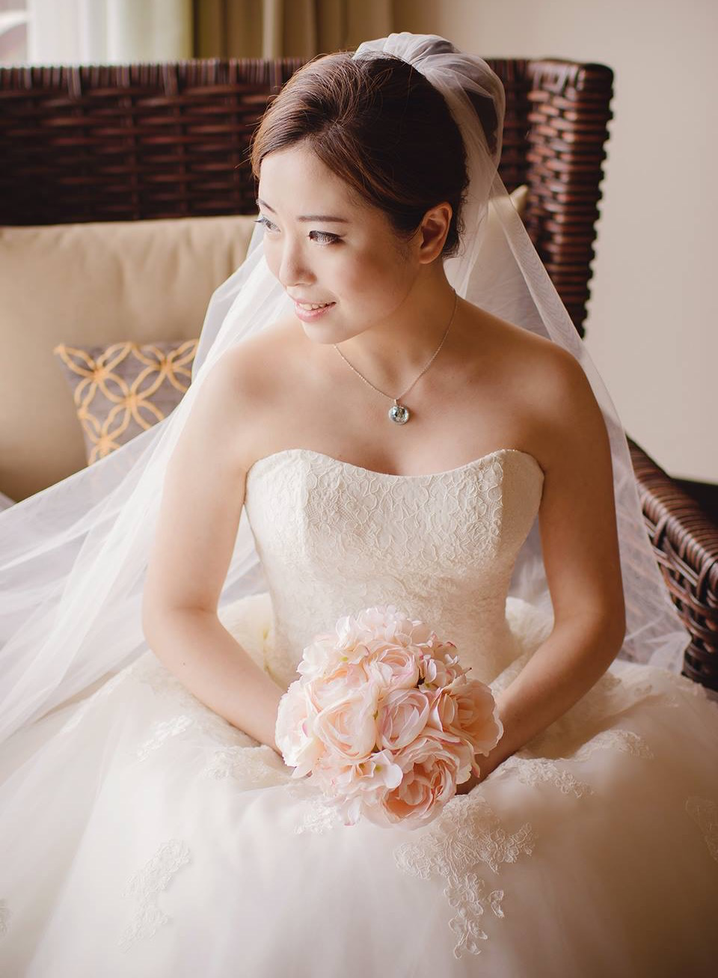 Wedding Makeup and Hair for the Bride in Hua Hin. Professional service.