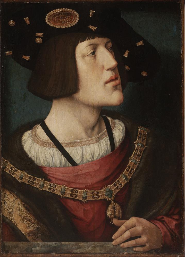Portrait du jeune Charles Quint par Marco Calabrese (1519).
