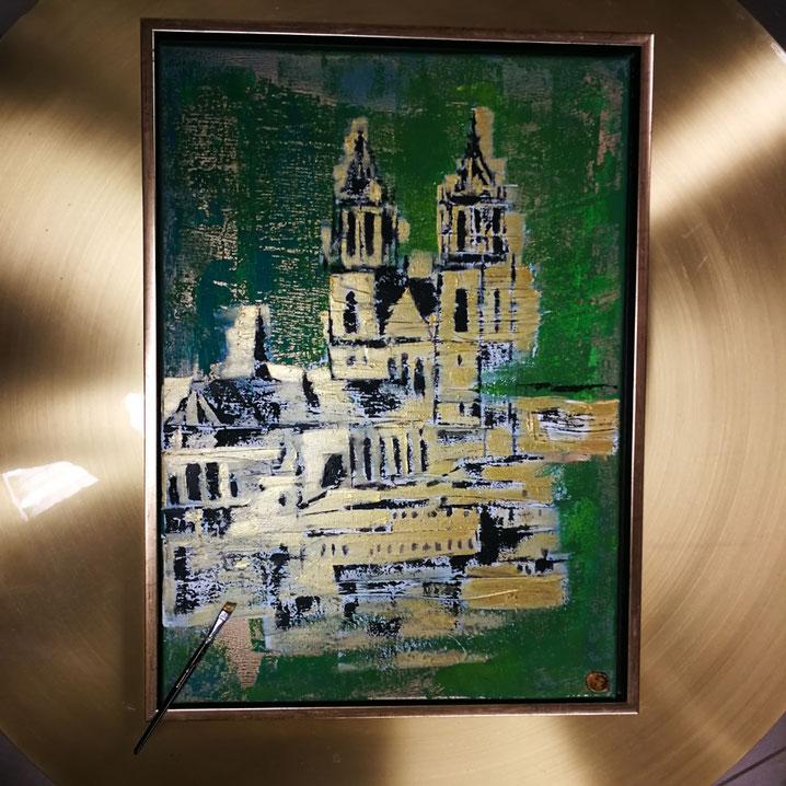 Ottostadt 50×70cm oil/acryl