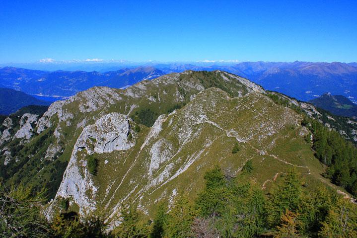 Veduta aerea del Monte Pilastro