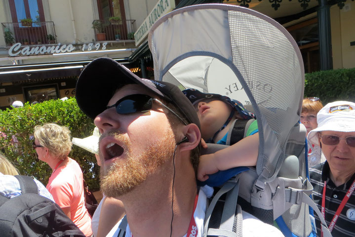 Your baby will nap-on-the-go a lot while on a cruise