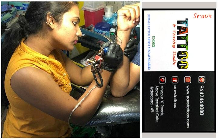 Student Sravanti @ Shrav Tattoos Miyapur