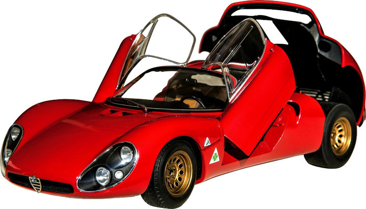 1/18 Alfa Romeo Tipo 33/2 Stradale  Autoart オートアート 1/18 アルファロメオ・ティーポ 33/2 ストラダーレ