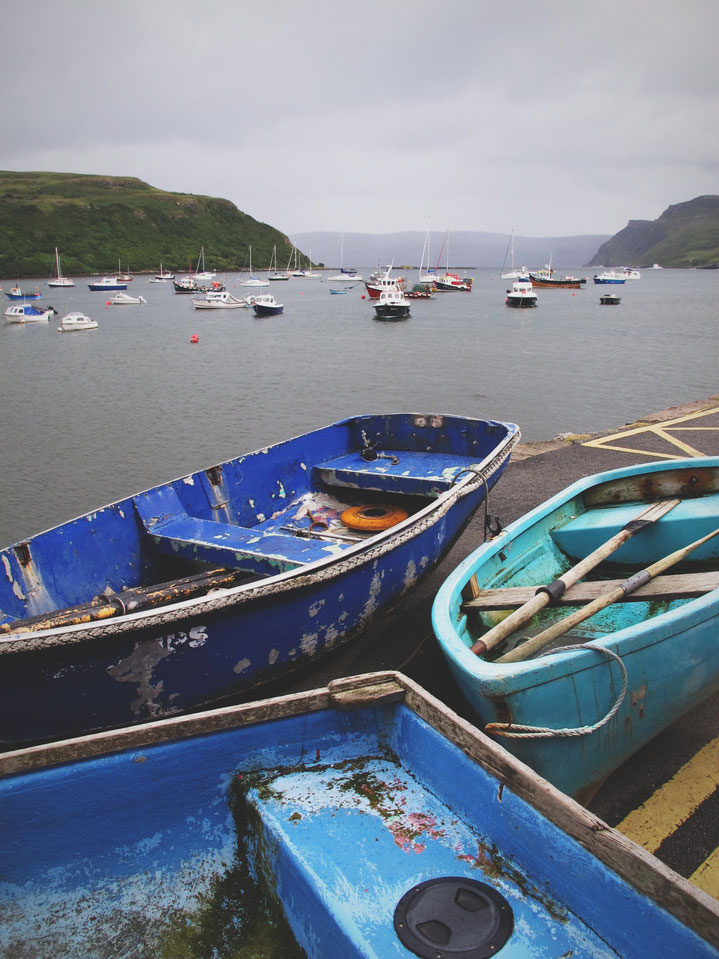 bigousteppes écosse portree île de skye bateau port
