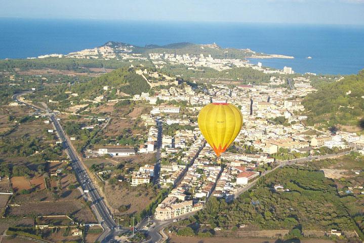 Viaje en globo por Mallorca Son Amoixa Vell