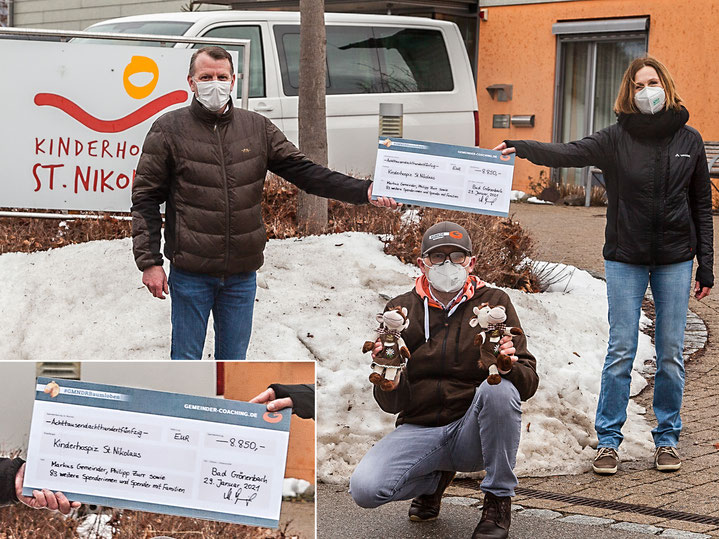#GMNDR Übergabe Spendenscheck 29.01.2021 Kinderhospiz Bad Grönenbach
