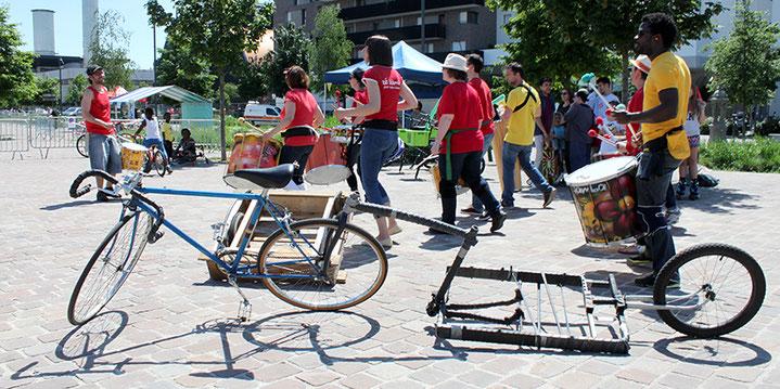 Batucada Zé Samba à la Fête du Vélo