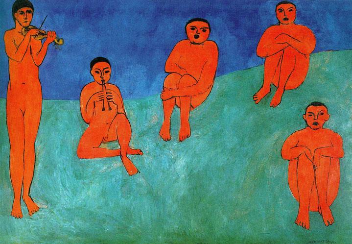 "Henri Matisse, ""La musica"" (1910)"