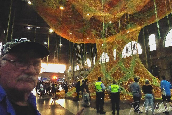 Pedro Meier – Ernesto Neto, Brazil – »Gaia Mother Tree« – Zurich Main Station – Fondation Beyeler – 9 © Pedro Meier »Selfie-Art-Project« Multimedia Artist, Atelier Gerhard Meier Weg Niederbipp / Bangkok am Golf von Thailand – FLUXUS DADA, Visarte, SIKART