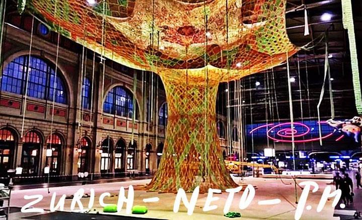 Pedro Meier – Ernesto Neto – »Gaia Mother Tree« Zurich Main Station, Fondation Beyeler – © Pedro Meier Swiss-German Multimedia Artist, Atelier Gerhard Meier Weg Niederbipp und Bangkok am Golf von Thailand – DigitalArt, FLUXUS DADA, Visarte, SIKART Zürich