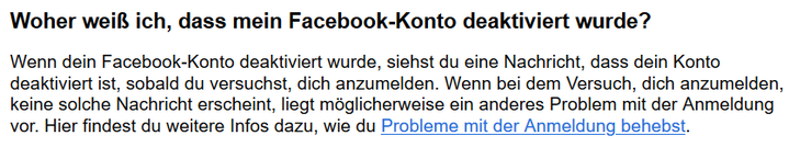 Facebook Konto deaktiviert nicht mehr einloggen einwählen - Rechtsanwalt Sven Nelke