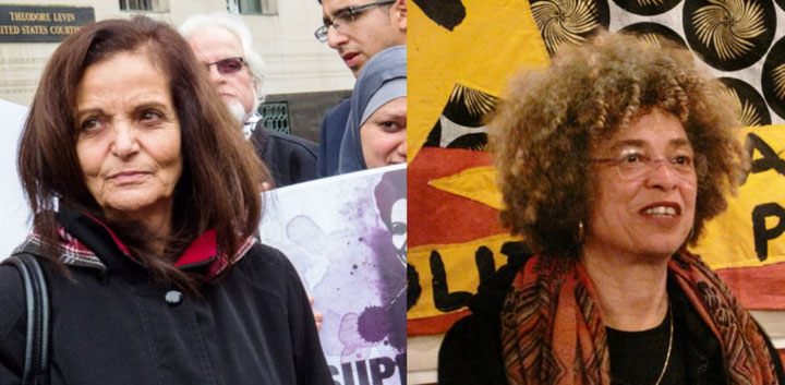 Rasmea Odeh (tv) og Angela Davis (th)