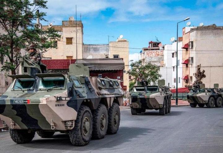 Marokkansk militær spærrer indgangen til byen Guerguerat