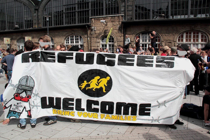 Solidaritetsdemo med flygtningene i Hamburg sidste uge