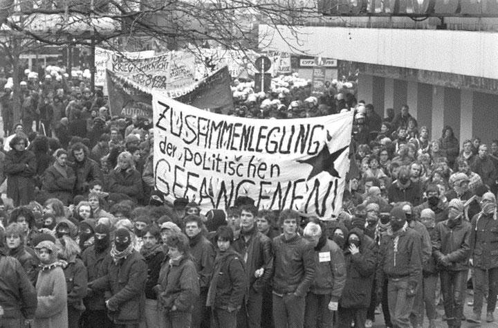 Autonom og anti-imperialistisk orienteret fangesolidaritetsdemonstration, Berlin i starten af 1980' erne