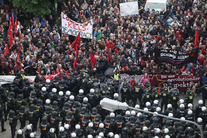 Frankfurt 2013: Blockupy-demonstration mod den Europæiske Centralbank