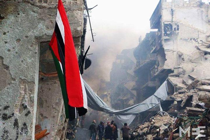 Yarmouk er lagt i ruiner