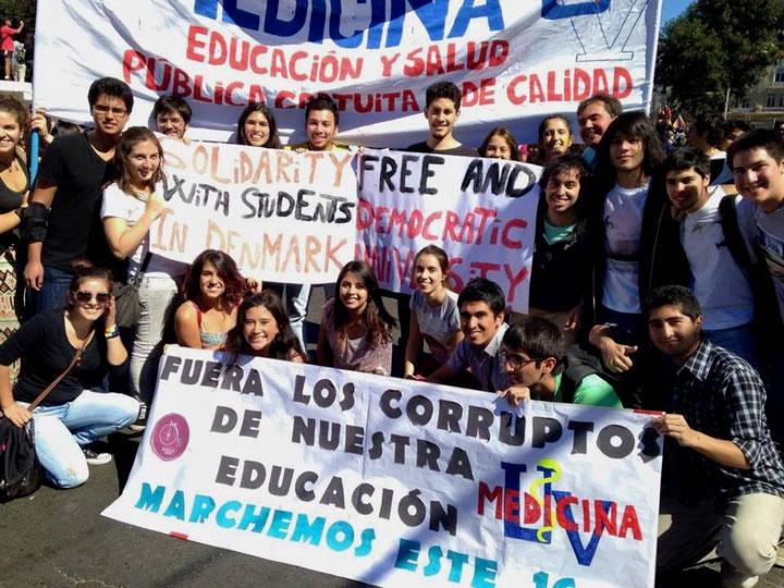 Solidaritetshilsener fra studenteraktivister fra Chile