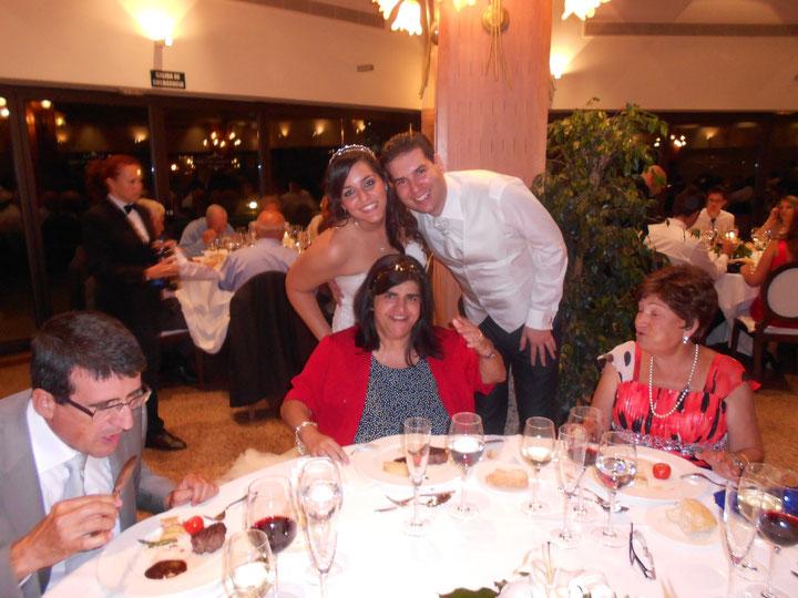 Los novios con Mari Jose. F. P. Privada.
