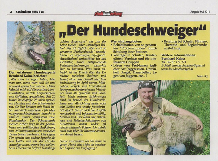 Stadt-Land-Zeitung: Der Hundeschweiger
