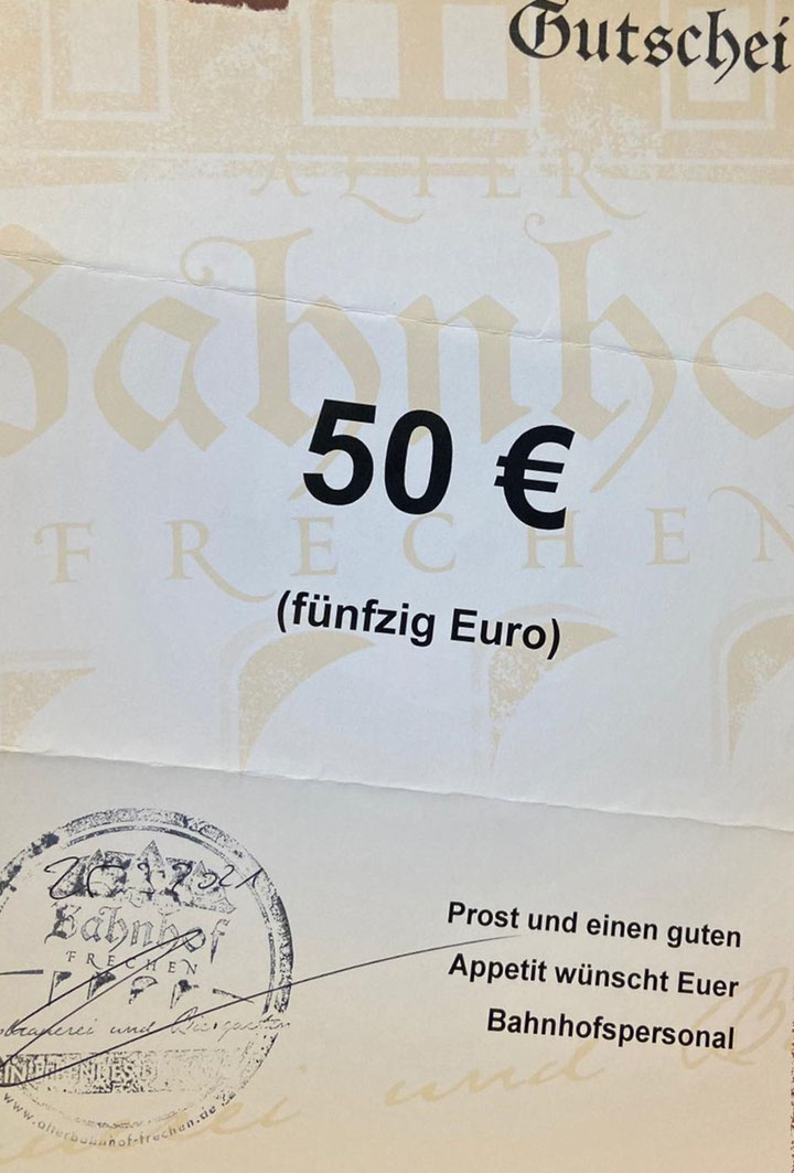 Jedes Siegerteam erhält einen 50 € Gutschein.